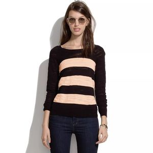 Madewell Wide Stripe Pullover Sweater.